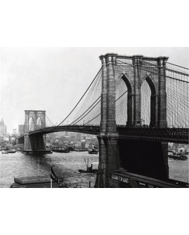Fotografia clasica puente de brooklyn new york 1900
