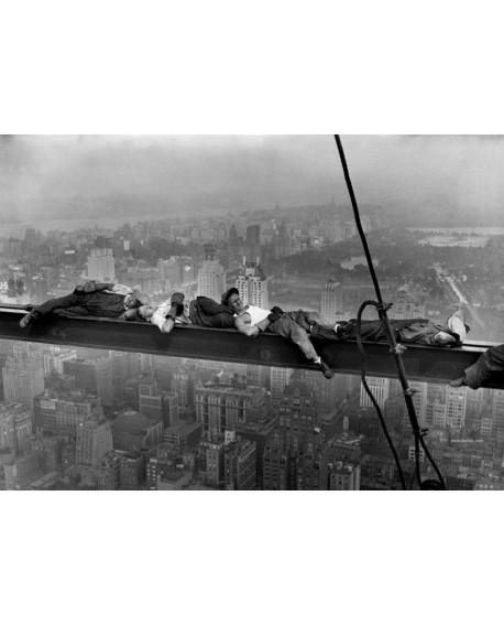 Fotografia clasica obreros durmiendo en la viga manhattan Home