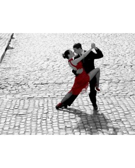 Fotografia PAREJA BAILE TANGO CLASICO BN COLOREADA Home
