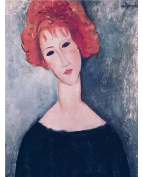 modigliani retrato mujer impresionista con pelo rojo Home