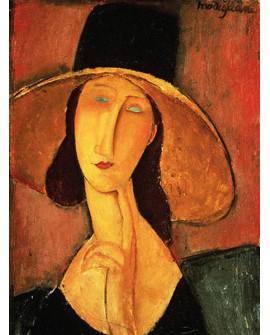 modigliani retrato mujer impresionista con sombrero Home
