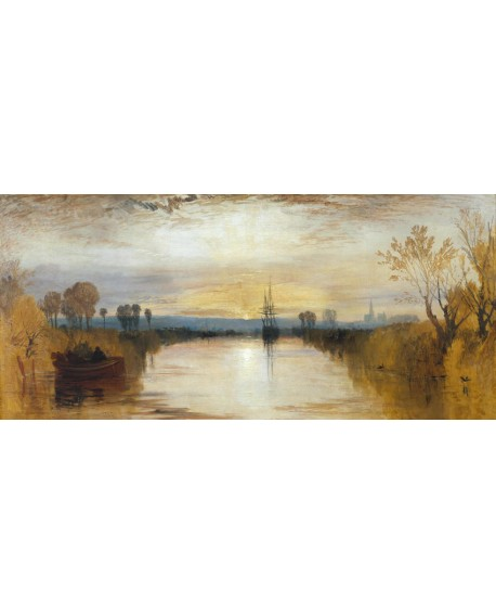 william turner impresionista canal chichester panoramico Cuadros Horizontales