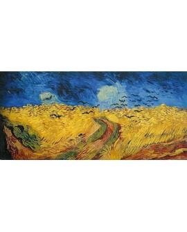 van gogh panoramico campo de trigo con cuervos Cuadros Horizontales