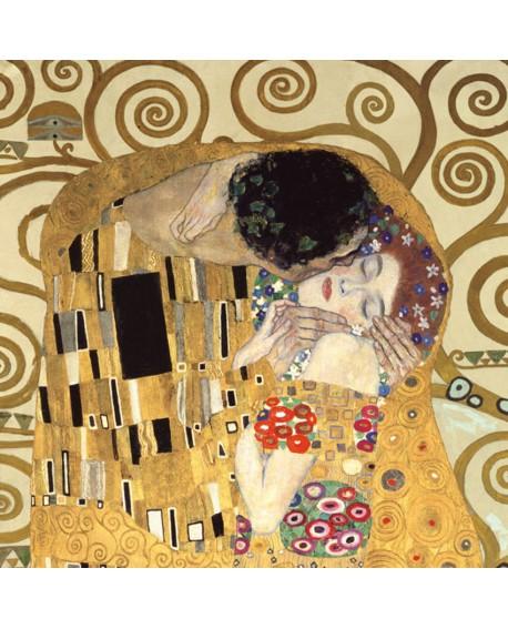 gustav klimt el BESO fantasia cuadro impresionista Home