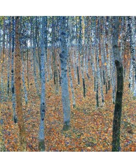 gustav klimt bosque de hayas cuadro paisaje impresionista Home