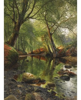 peder mork monsted paisaje vertical rio del bosque