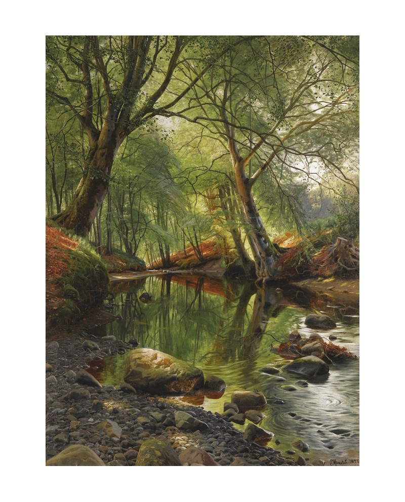 Peder mork monsted paisaje vertical rio del bosque for Cuadros verticales grandes