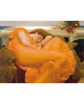 leighton cuadro prerrafaelita flaming june naranja Home