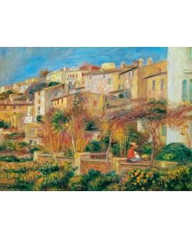 renoir cuadro impresionista paisaje terraza en cagnes