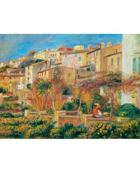 renoir cuadro impresionista paisaje terraza en cagnes Home