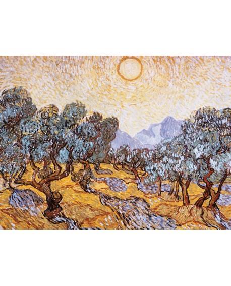 van gogh cuadro clasico impresionista LOS ARBOLES OLIVOS Home