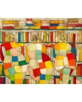 Jose Villanueva: Las 3 Gracias. Desnudos Femeninos en la Biblioteca