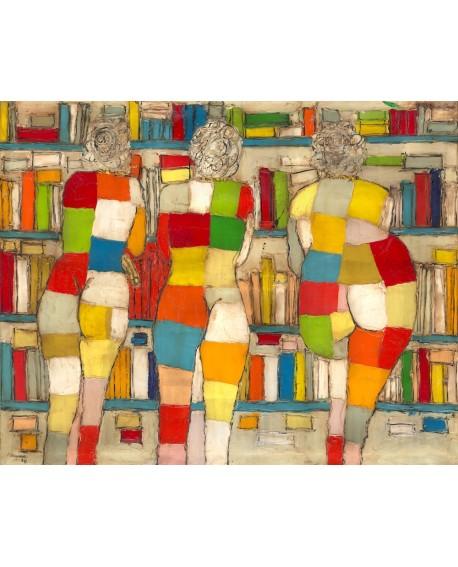Jose Villanueva: Las 3 edades de la mujer. Desnudos Abstractos en la Biblioteca. Home
