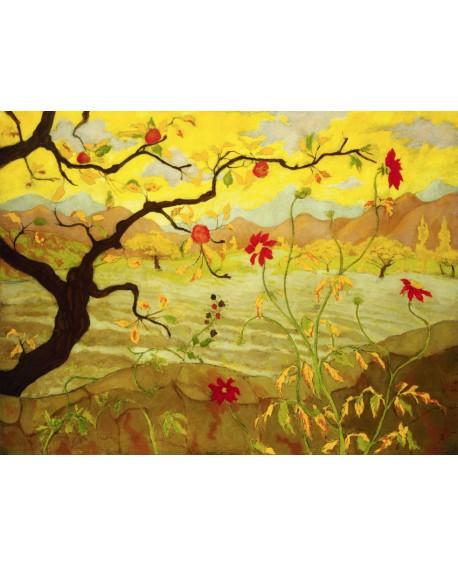 paul ranson paisaje de manzano con fruta roja Home