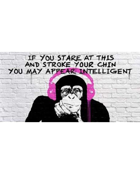 Banksy arte graffiti urbano panoramico el mono sabio Cuadros Horizontales
