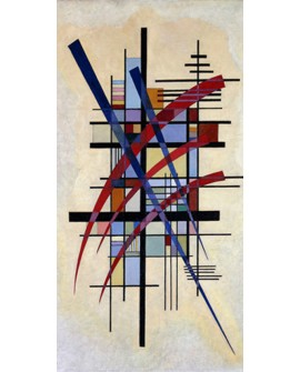 VASSILY KANDINSKY CUADRO VERTICAL ACOMPAÑAMIENTO EN FRISO MURAL Home