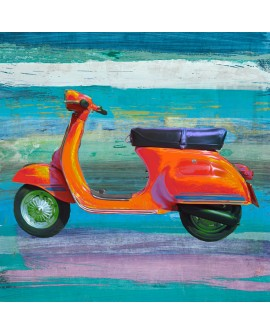 TEO RIZZARDI POP SCOOTER VESPA EN ARTE POP MURAL ABSTRACTO CUADRADO 2 Home