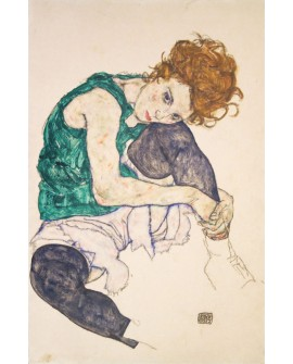 EGON SCHIELE RETRATO MUJER SENTADA IMPRESIONISTA Home