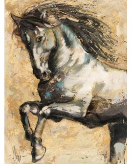LUIGI FLORIO CUADRO RETRATO CABALLO BLANCO ANDALUZ Home