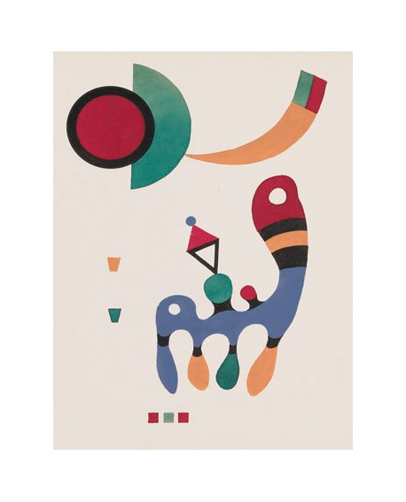 VASSILY KANDINSKY CUADRO ABSTRACTO MURAL 7 POEMAS VERTICAL Home