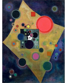 VASSILY KANDINSKY CUADRO MURAL ACENTO ROSA VERTICAL Home