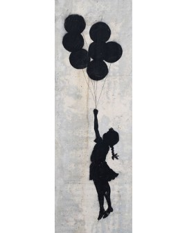 Banksy arte graffiti urbano niña de palestina en friso Home