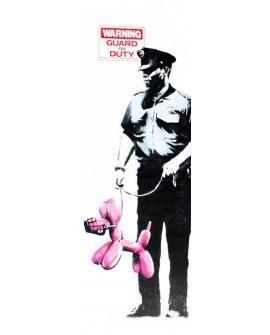 Banksy arte graffiti urbano policias con perro los angeles