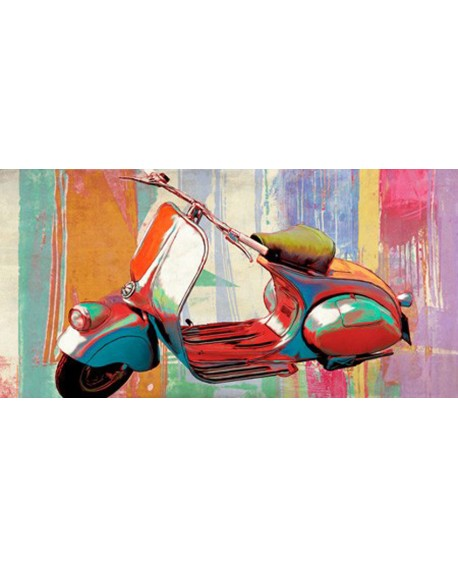 teo rizzardi cuadro homenaje vespa 1950`s pop art Cuadros Horizontales