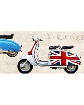 teo rizzardi cuadro lambreta vespa inglesa mods pop art
