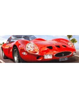 Ferrari GTO cuadro panoramico de coche deportivo rojo
