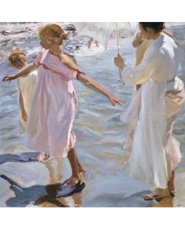 SOROLLA - Paseando por la orilla Valencia reproduccion impresionista