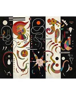 VASSILY KANDINSKY CUADRO ABSTRACTO MURAL STRIPED Home