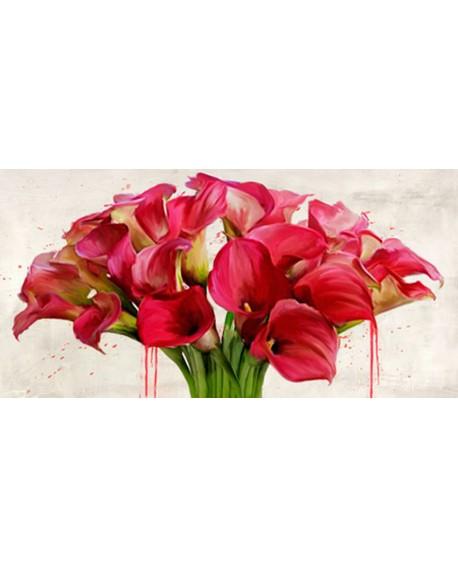 alex vinci cuadro mural cabecero flores calas panoramico Cuadros Horizontales