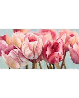 cynthia ann cuadro flores tulipanes rosas panoramico