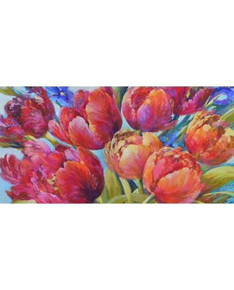 nel whatmore cuadro grande flores rojas alegres Cuadros Horizontales