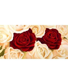 serena biffi cuadro mural flores rosas blancas Cuadros Horizontales