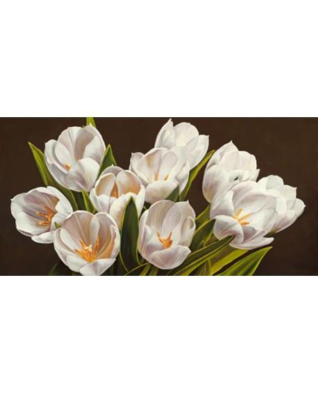 serena biffi cuadro mural flores tulipanes blancos Cuadros Horizontales