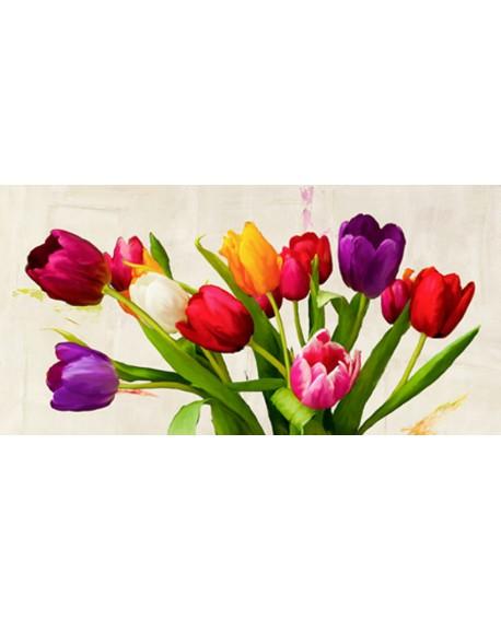 teo rizzardi cuadro flores en ramo tulipanes cabecero Cuadros Horizontales