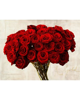 teo rizzardi cuadro flores en ramo rosas rojas cabecero