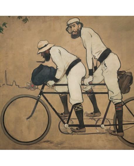 Ramon Casas Pere Romeu bicicleta Tandem cuadro reproduccion Home