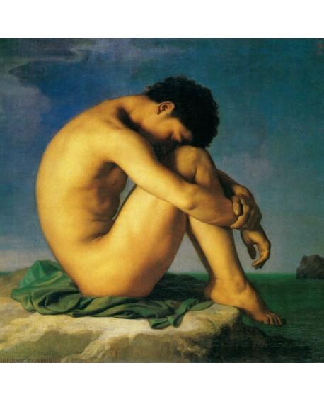 Fandrin Desnudo frente al mar hombre desnudo clasico cuadro reproduccion Home