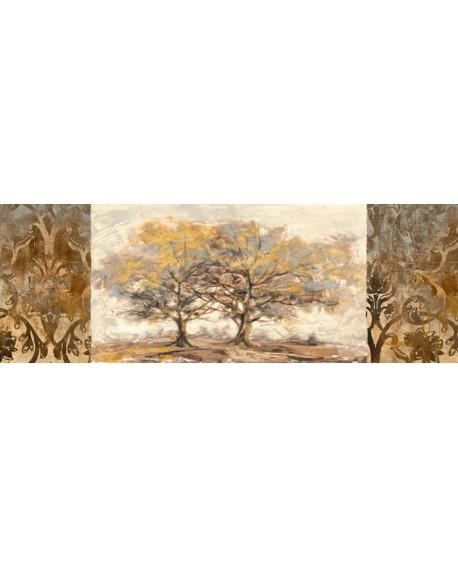 LUCAS cuadro mega panoramico mural arbol DORADO Home