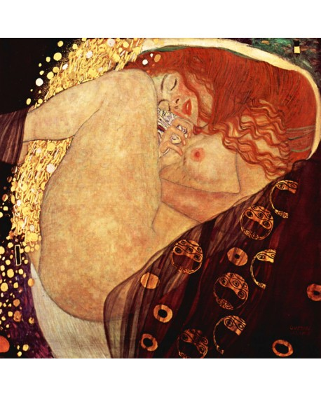 Gustav Klimt - Danae - Mural impresionista cuadro reproduccion Home