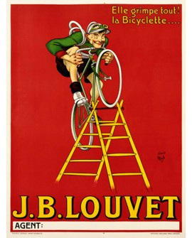 ART DECO RETRO CARTEL CLASICO BICICLETAS VINTAGE LOUVET Home