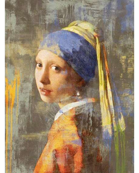 CHESTIER VERSION MODERNA VERMEER CHICA PERLA ABSTRACTA Home